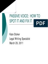Passive Voice Workshop | Certiorari | Verb