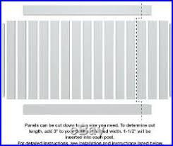 Veranda Washington Cypress Vinyl Fence Panel Kit 6 Ft H X 6 Ft W Home Fencing Fence Kit New