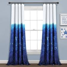 52 X84 Make A Wish Space Star Ombre Window Curtain Panels Navy White Set Lush Dcor Target