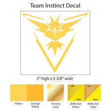 Team Instinct Pokemon Go 5 Decal Seward Street Studios