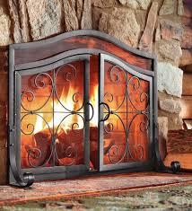 scroll design elegant fireplace screen