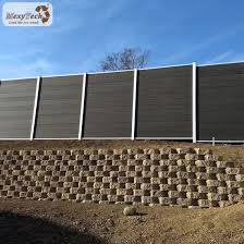 China Villa Garden Design Wood Plastic Composite Top Wall Fence China Fencing For Villa Garden Fence