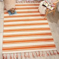 striped blended universal dhurrie rug