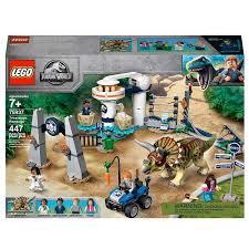 Lego 75937 Jurassic World Triceratops Rampage Dinosaur Toy Smyths Toys Uk