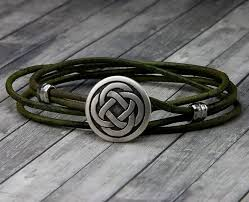 celtic knot leather bracelet handmade