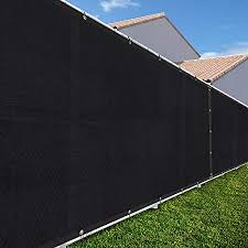 Amazon Com Tang Sunshades Depot 5 8 By 12 Feet Black For Chain Link Fence 6x12 Privacy Screen Windscreen Commercial Grade 150 Gsm Heavy Duty We Make Custom Sizes With Heavy Duty Brass
