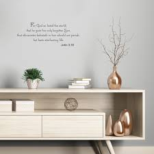 Vinyl Wall Art Decal For God So Loved The World John 3 16 Quotes 8 X 23 Ebay