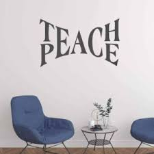 Teach Peace Quote Decal Sticker Wall Vinyl Art Home Decor Inspirational Life Love Beautiful Happiness Signway
