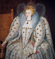 queen elizabeth s white clown face