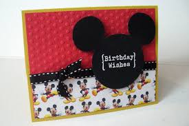 Mickey Mouse Birthday Card For Doodle Manualidades Tarjetas