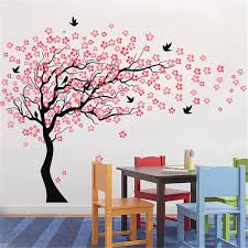 Large Wall Tree Baby Nursery Flower Wall Sticker Cherry Blossom Sticker Kids Vinyl Art Decal Sale Banggood Com