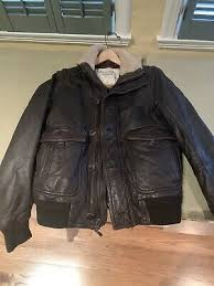 abercrombie leather jacket men small