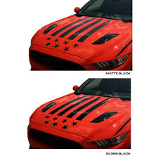 Anchor Room Mustang Hood Decal Kit Tattered American Flag V6 Ecoboost Gt 2015 2017