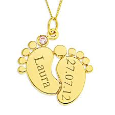 9ct yellow gold personalised pink cz