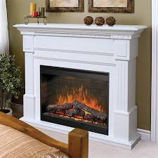 white electric fireplace mantel package