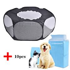 Big Sale D222 Portable Small Pet Cage Transparent Hedgehog Cage Tent Pet Playpen Open Folding Yard Fence For Dog Hamster Rabbit Guinea Pig Cicig Co