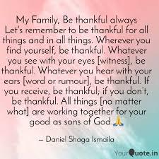 my family be thankful al quotes writings by daniel shaga