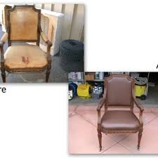 redye a natural leather chair by making
