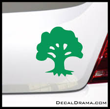 Mtg Forest Green Magic The Gathering Inspired Vinyl Car Laptop Decal Decal Drama