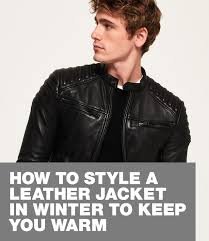 are leather jackets warm superdry edit