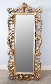 extra large gold rococo cheval dressing