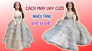 ☼ Cách may váy cưới nhiều tầng cho búp bê - May đồ đơn giản cho ...