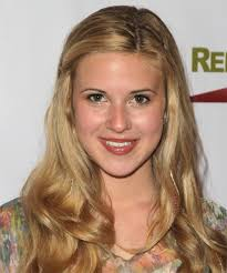 Caroline Sunshine Long Curly Dark Golden Blonde Half Up Hairstyle