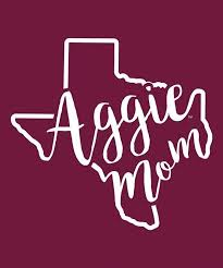 Texas A M Aggie Mom Curly Print Decal In 2020 Print Decals Aggies Texas A M