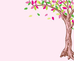 Amazon Com Corner Oak Tree Wall Decal With Pink And Green Leaves Baby