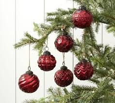 mercury glass adorned ornament set of 6