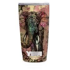 Skin Decal For Yeti 20 Oz Rambler Tumbler Cup Tribal Elephant With Tusks Walmart Com Walmart Com
