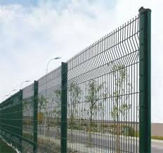 Decorative 3d Fence Panels High Security Pvc Coated Metal Fence With Triangle Bends