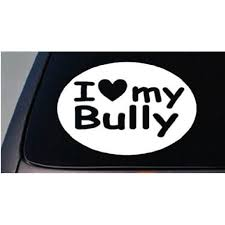 I Love My American Bully Sticker Dog Pit Bull Truck Window Sticker Decal 6 B192 Walmart Com Walmart Com