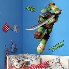 Teenage Mutant Ninja Turtles Leo Peel And Stick Tmnt Wall Decals Sticker For Boys Kids Room Comic Wall Ar Comics Wall Art Wall Decal Sticker Wallpaper Stickers