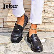 loafer men business shoes four circle