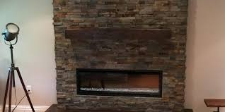 stacked stone electric fireplace monk