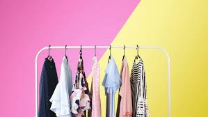 womens clothing on a white stock