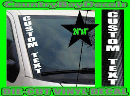 Amazon Com Custom Text Vertical Stacked Windshield Vinyl Side Decal Sticker Truck Car Gt B Handmade
