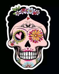Sugar Skull Frida Decal Car Window Vinyl Sticker Day Of The Etsy