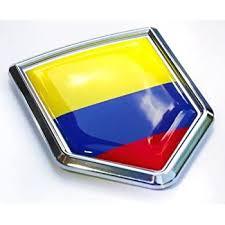 Amazon Com Car Chrome Decals Colombia Flag Colombian Emblem Chrome Car Decal 3d Sticker Cbshd046 Automotive