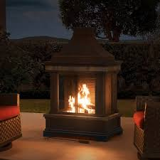 outdoor fireplace chimney wayfair