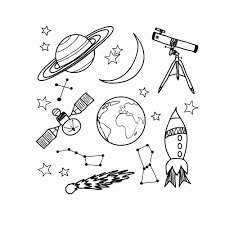 Space Wall Decals For Boy Room Outer Space Nursery Wall Sticker Telescope Rocket Ship Stars Vinyl Decal Planet Decor Kids S149 Wall Decals Vinyl Decalwall Sticker Aliexpress