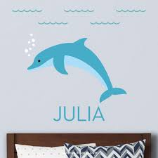 Dolphin Wall Decal Personalized Maxwill Studio