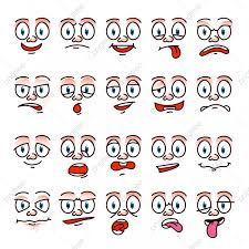 funny cartoon face human expression