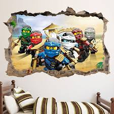 Kids Wall Sticker Lego Team Ninjago Muraldecal Com