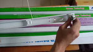 Hướng dẫn lắp ráp máng đèn led vào dòng điện một đầu Phần 1 | Đại lý đèn  led MPE TPHCM - YouTube