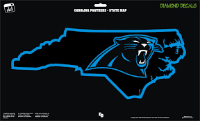 Carolina Panthers Nc Map Nfl Football Team Decal Sticker Car Truck Laptop Suv Window Team Decal Nfl Football Teams Carolina Panthers