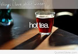 hot tea of the winter i love winter quote