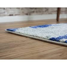 wade logan madill navy blue area rug
