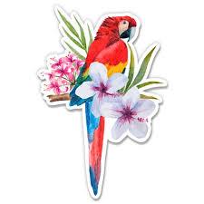 Tropical Bird Paradise Island Vacation Flowers 3 Vinyl Sticker For Car Laptop I Pad Phone Helmet Hard Hat Waterproof Decal Walmart Com Walmart Com